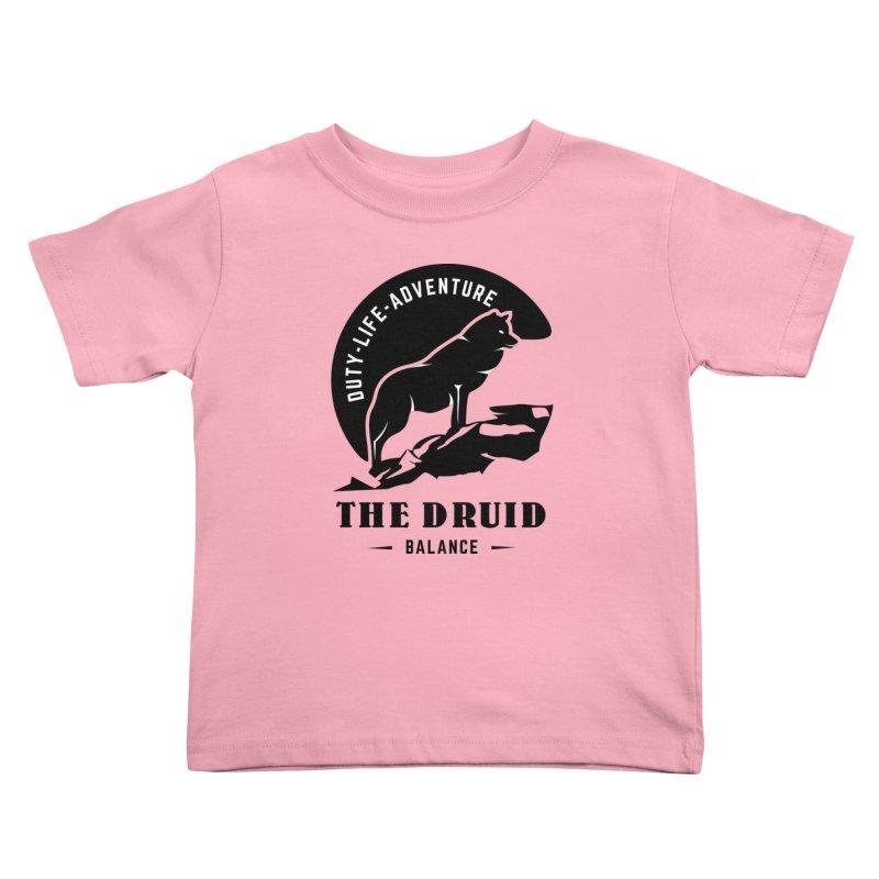 The Druid - Black Kids Toddler T-Shirt by fantasticworldspod's Artist Shop