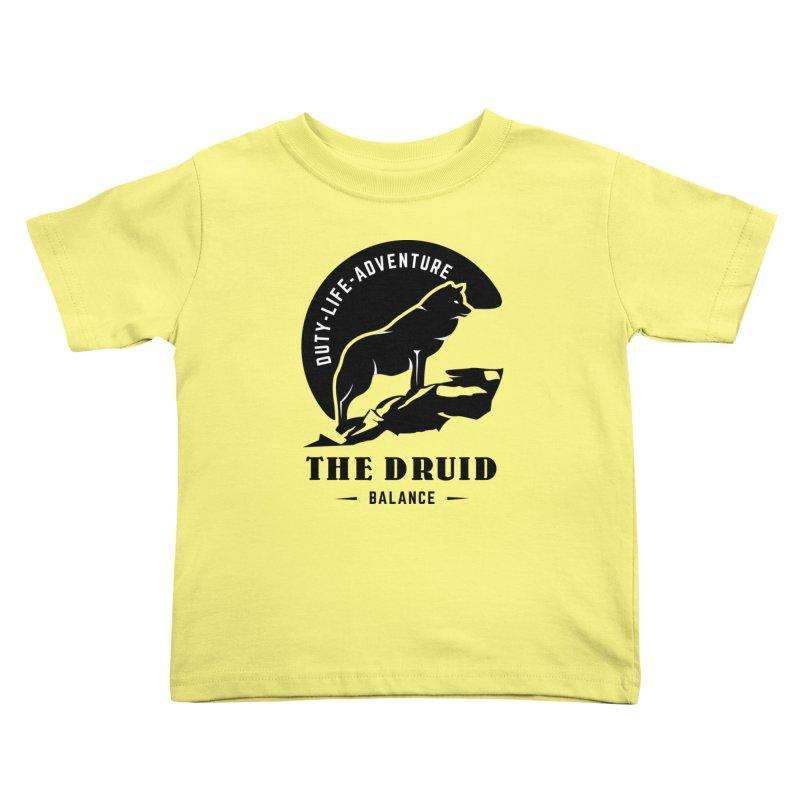 The Druid - Black Kids Toddler T-Shirt by fantastic worlds pod's Artist Shop