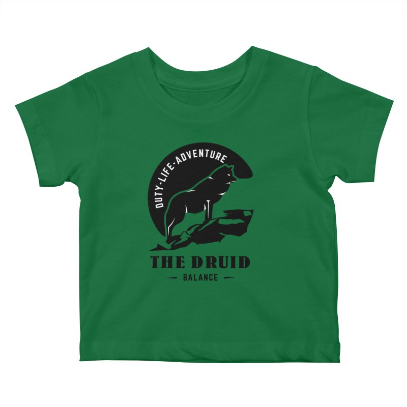 The Druid - Black Kids Baby T-Shirt by fantasticworldspod's Artist Shop