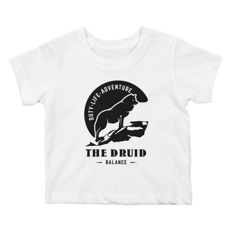 The Druid - Black Kids Baby T-Shirt by fantastic worlds pod's Artist Shop