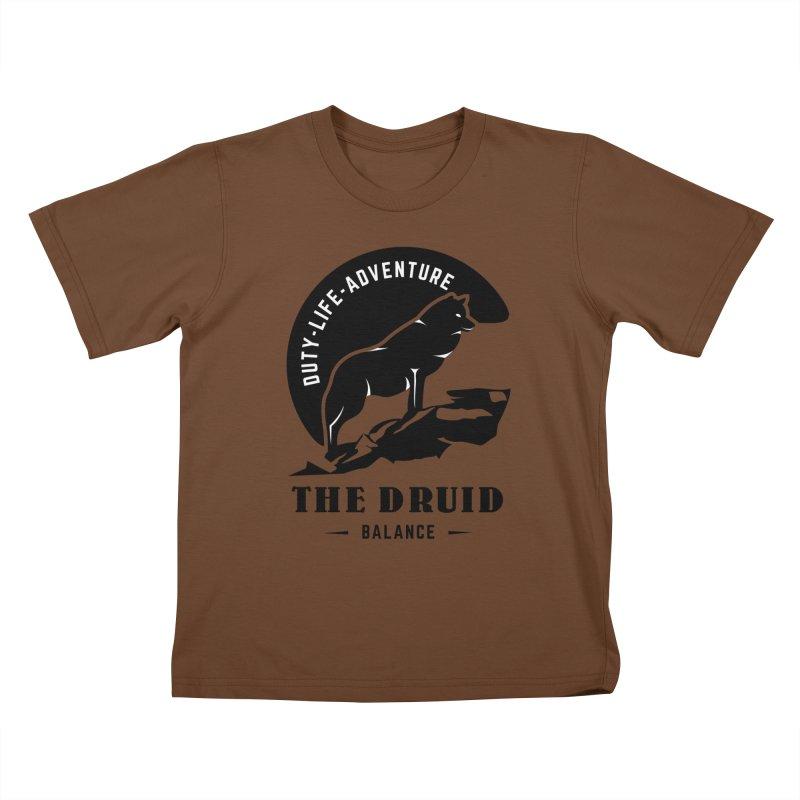 The Druid - Black Kids T-Shirt by fantasticworldspod's Artist Shop