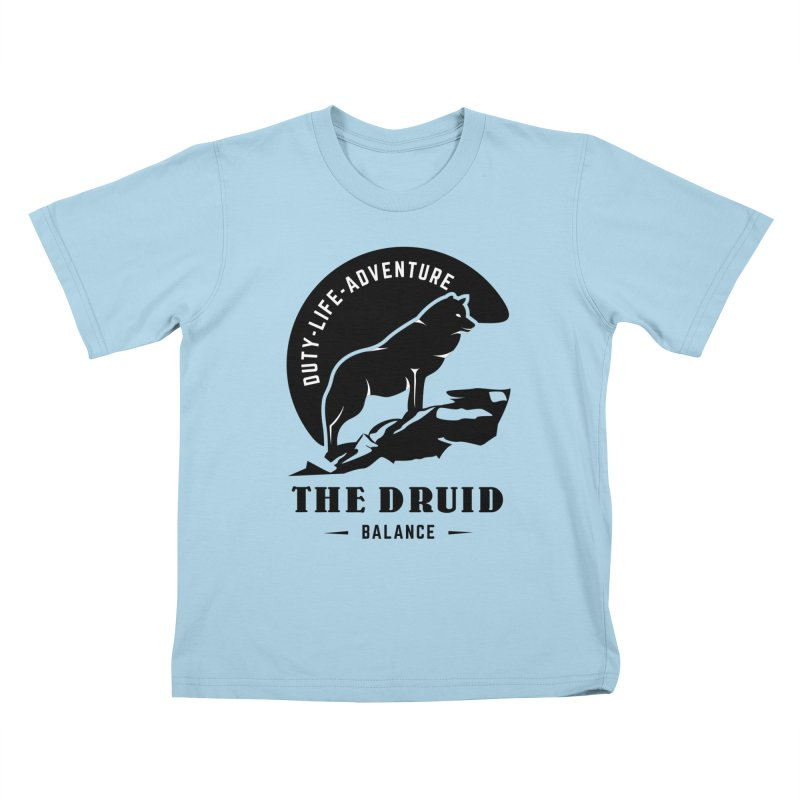 The Druid - Black Kids T-Shirt by fantastic worlds pod's Artist Shop