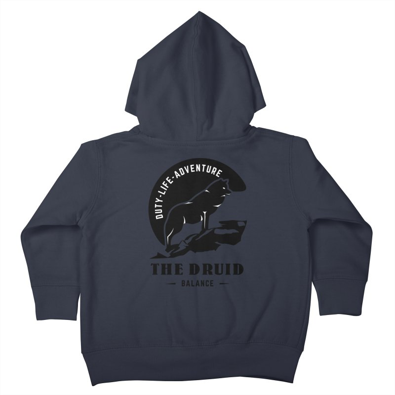 The Druid - Black Kids Toddler Zip-Up Hoody by fantastic worlds pod's Artist Shop