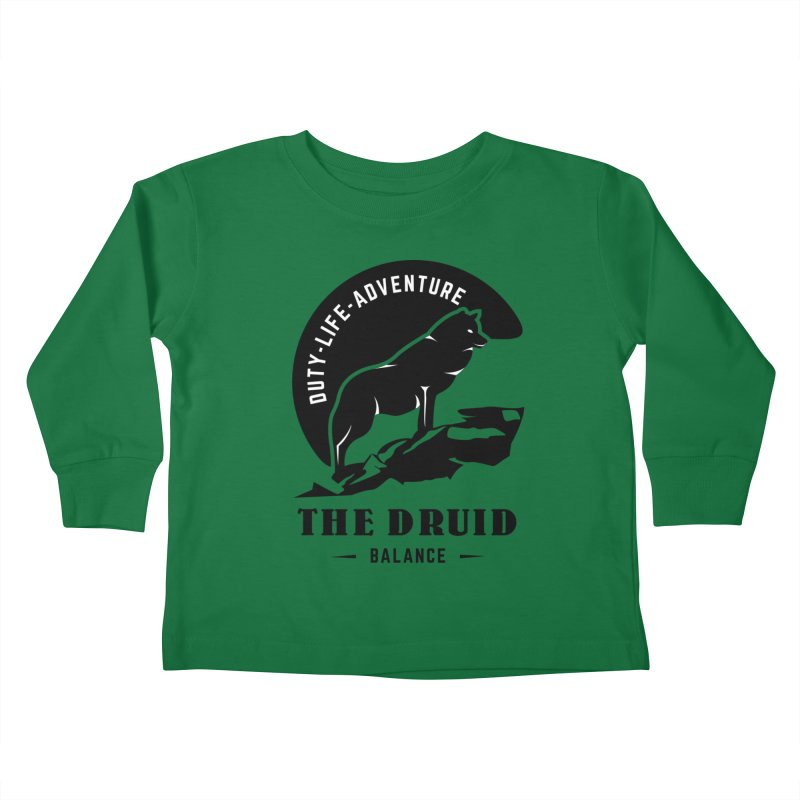 The Druid - Black Kids Toddler Longsleeve T-Shirt by fantastic worlds pod's Artist Shop