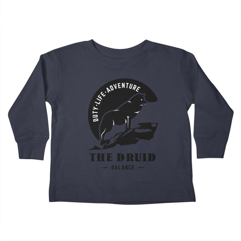 The Druid - Black Kids Toddler Longsleeve T-Shirt by fantasticworldspod's Artist Shop