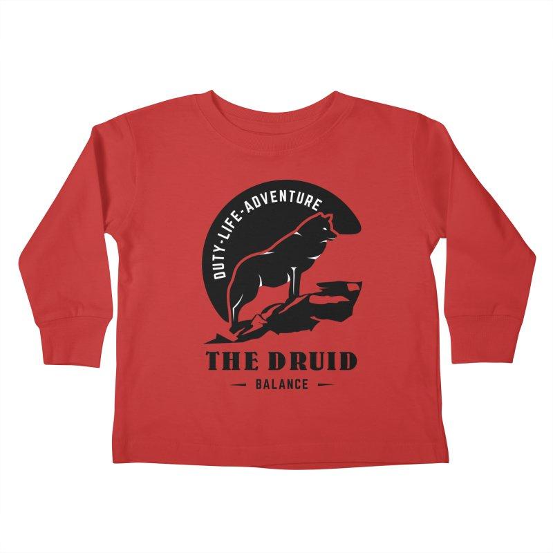 The Druid - Black Kids Toddler Longsleeve T-Shirt by fantastic worlds pod's Artist Shop