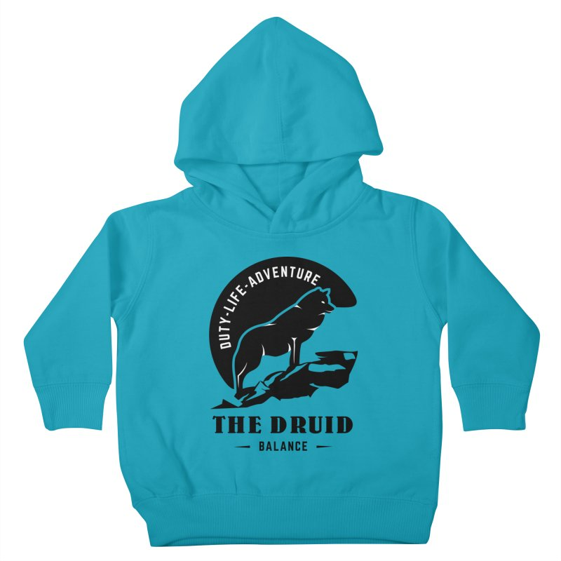 The Druid - Black Kids Toddler Pullover Hoody by fantastic worlds pod's Artist Shop