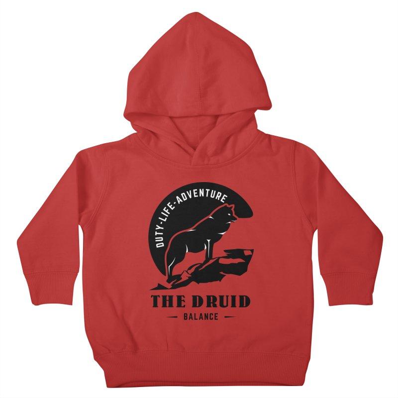 The Druid - Black Kids Toddler Pullover Hoody by fantasticworldspod's Artist Shop