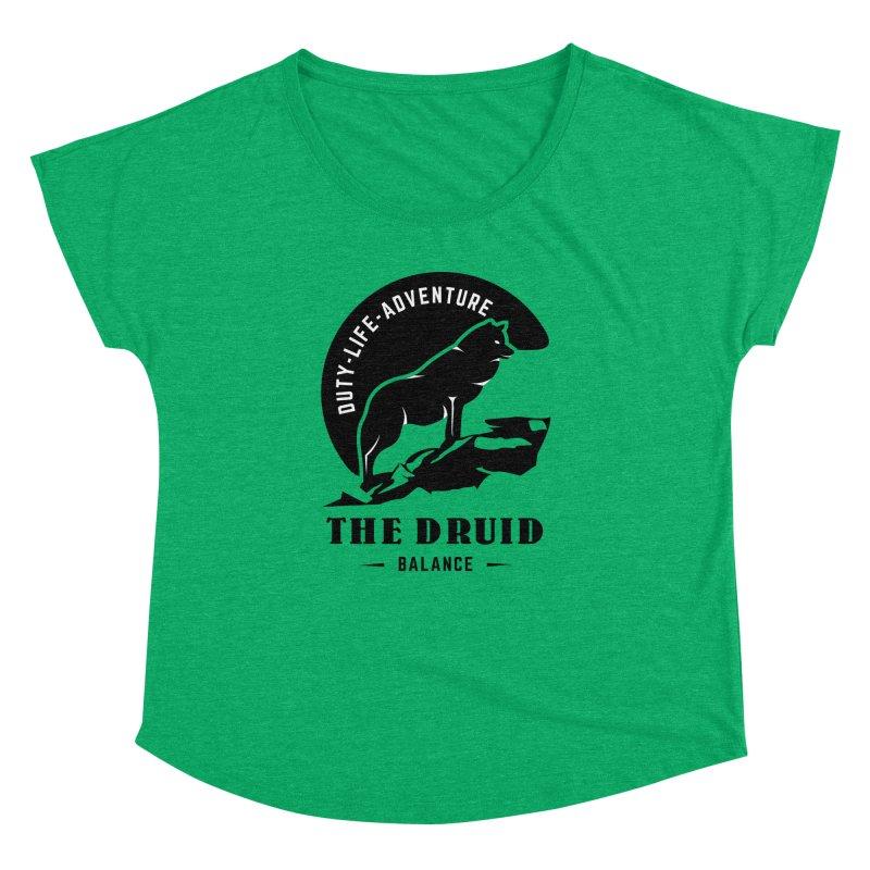 The Druid - Black Women's Dolman Scoop Neck by fantastic worlds pod's Artist Shop