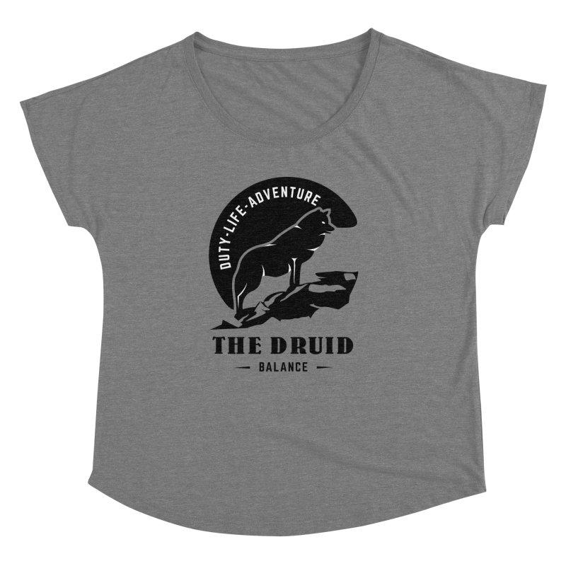 The Druid - Black Women's Dolman Scoop Neck by fantasticworldspod's Artist Shop