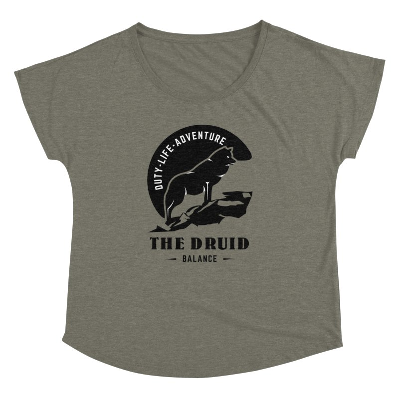 The Druid - Black Women's Dolman Scoop Neck by fantastic worlds pod's Artist Shop