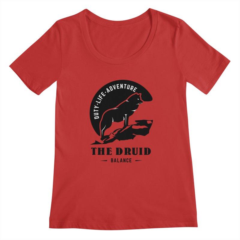 The Druid - Black Women's Regular Scoop Neck by fantastic worlds pod's Artist Shop