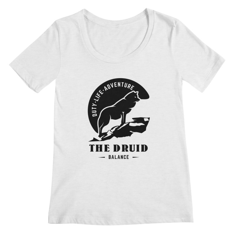 The Druid - Black Women's Regular Scoop Neck by fantastic worlds pod's Artist Shop