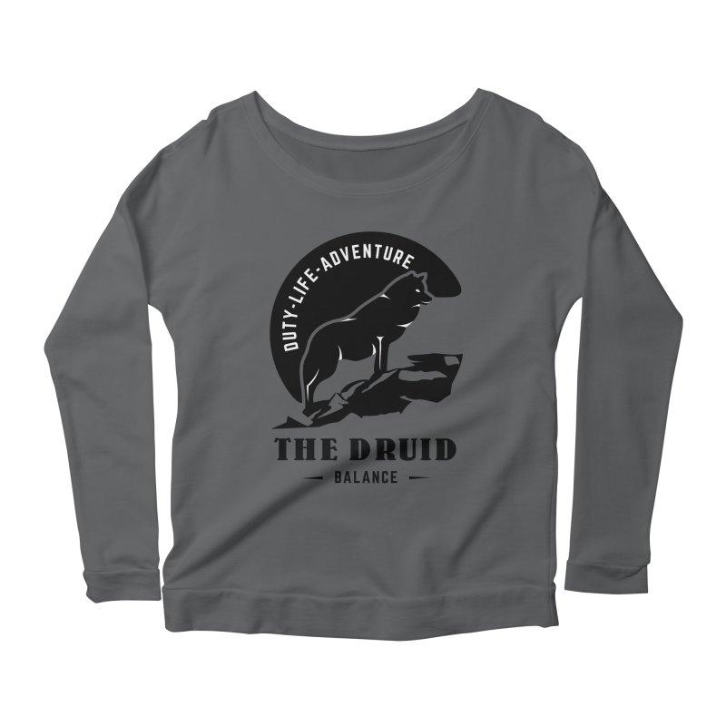 The Druid - Black Women's Scoop Neck Longsleeve T-Shirt by fantastic worlds pod's Artist Shop