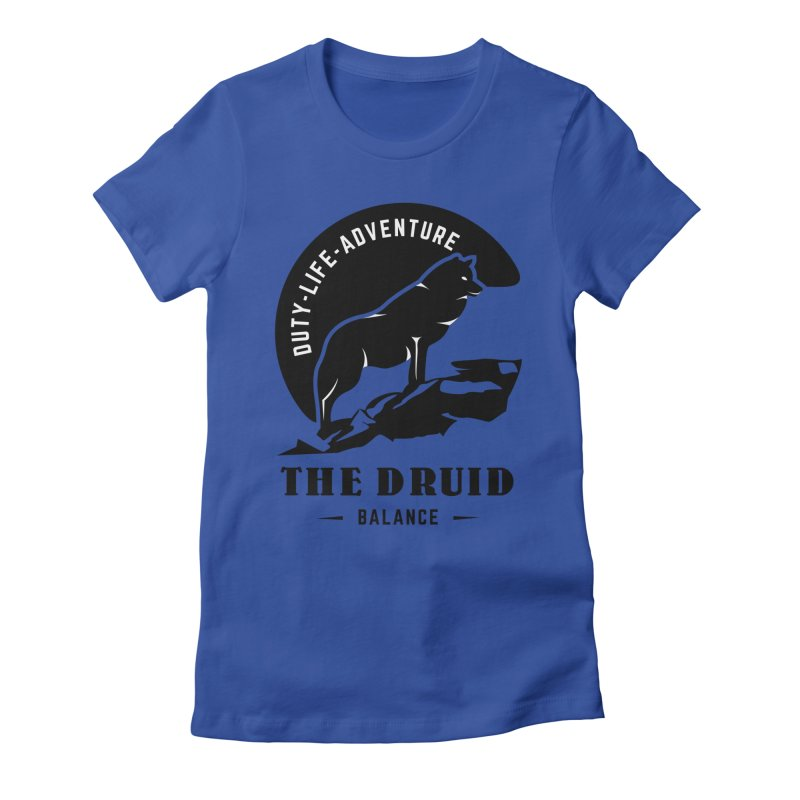 The Druid - Black Women's Fitted T-Shirt by fantastic worlds pod's Artist Shop