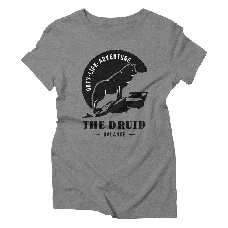 The Druid - Black Women's Triblend T-Shirt by fantastic worlds pod's Artist Shop