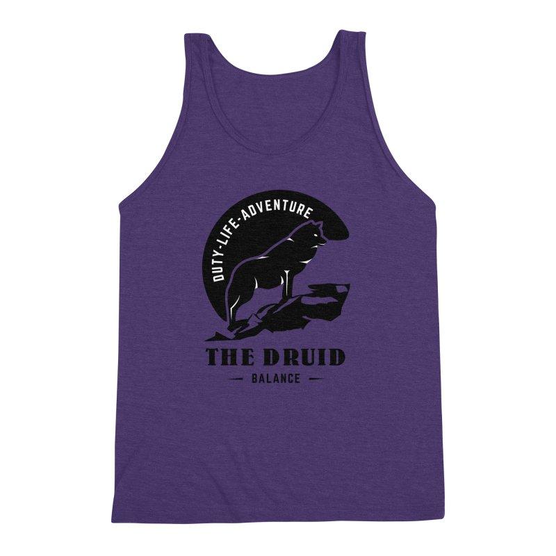 The Druid - Black Men's Triblend Tank by fantasticworldspod's Artist Shop