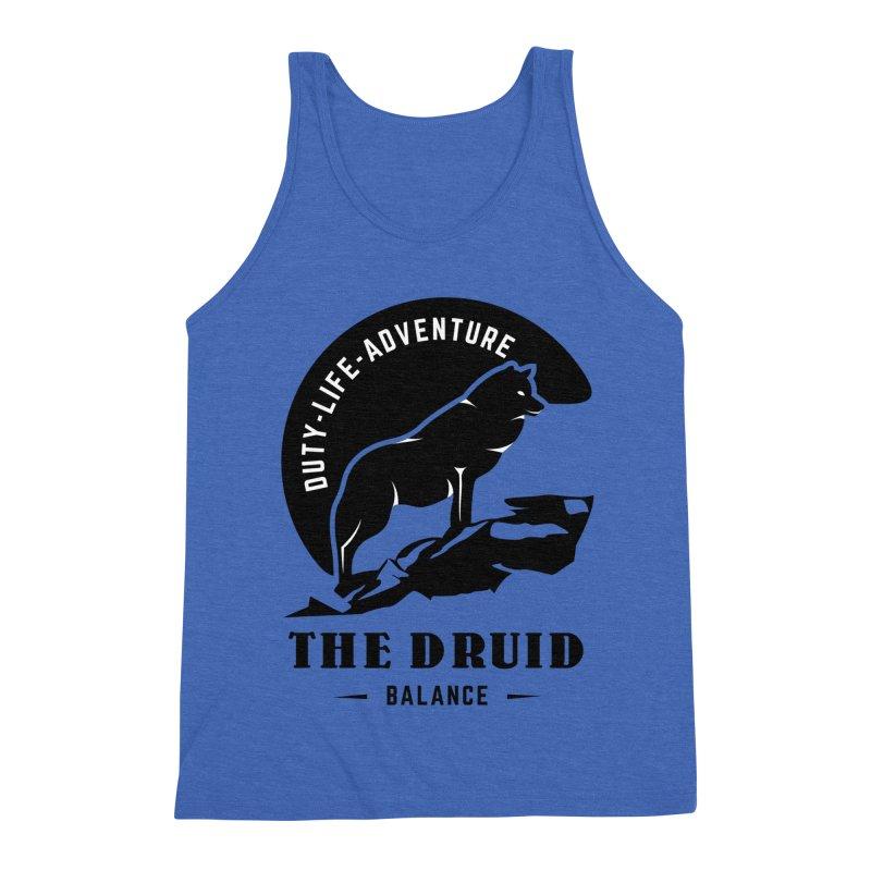 The Druid - Black Men's Triblend Tank by fantastic worlds pod's Artist Shop