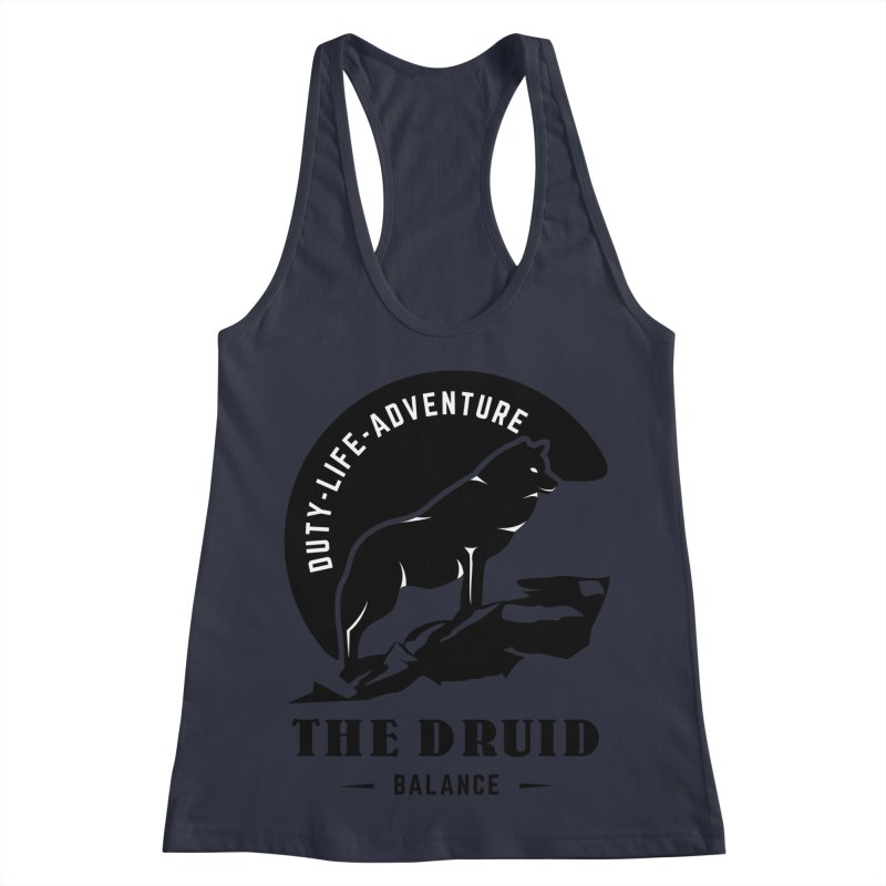 The Druid - Black Women's Racerback Tank by fantastic worlds pod's Artist Shop