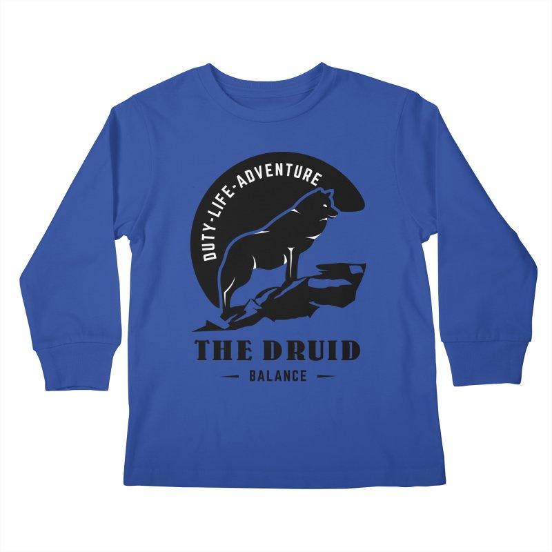 The Druid - Black Kids Longsleeve T-Shirt by fantastic worlds pod's Artist Shop