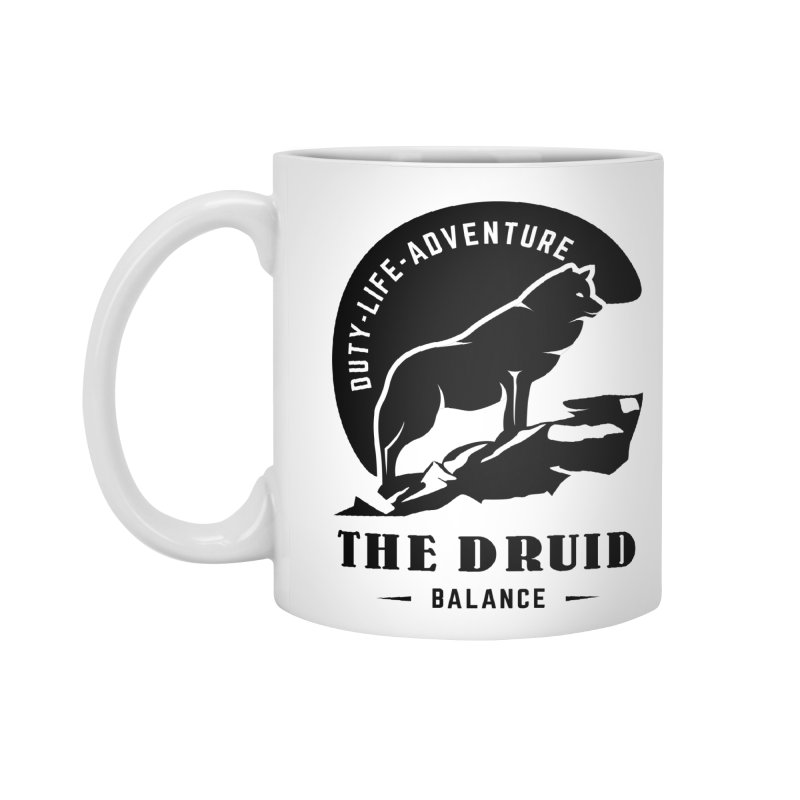 The Druid - Black Accessories Mug by fantastic worlds pod's Artist Shop