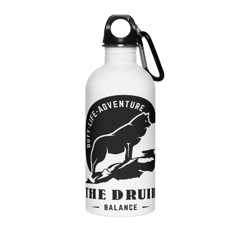 The Druid - Black Accessories Water Bottle by fantastic worlds pod's Artist Shop