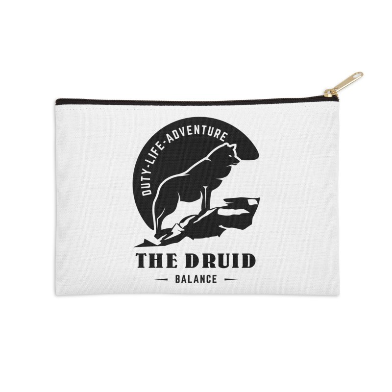 The Druid - Black Accessories Zip Pouch by fantasticworldspod's Artist Shop