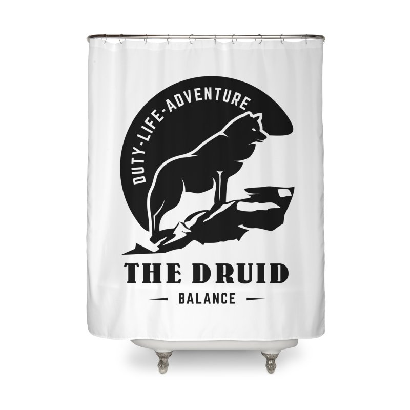 The Druid - Black Home Shower Curtain by Fantastic Worlds Podcast  Shop