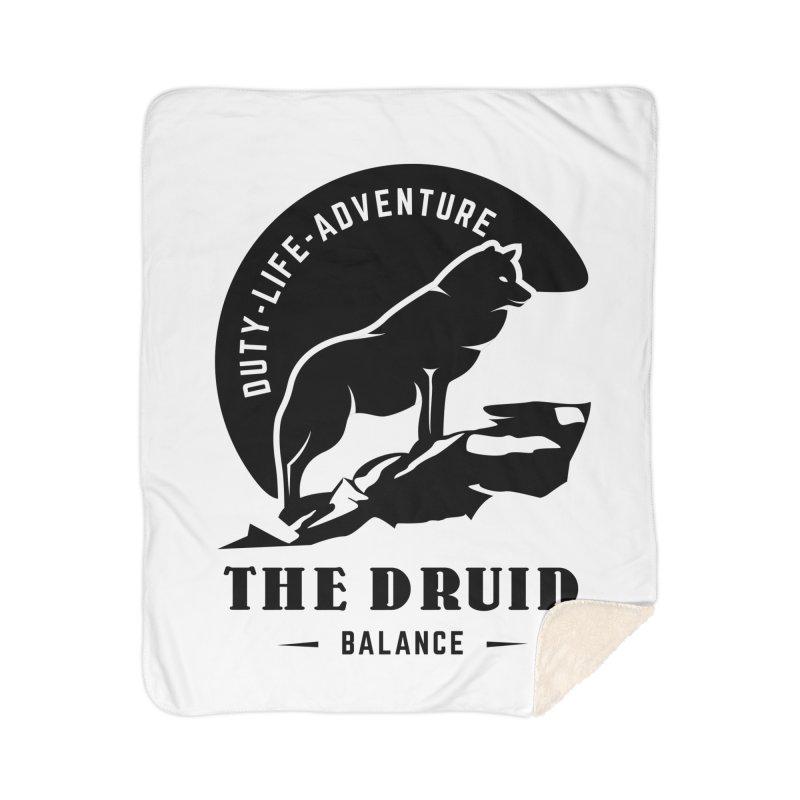 The Druid - Black Home Sherpa Blanket Blanket by fantastic worlds pod's Artist Shop