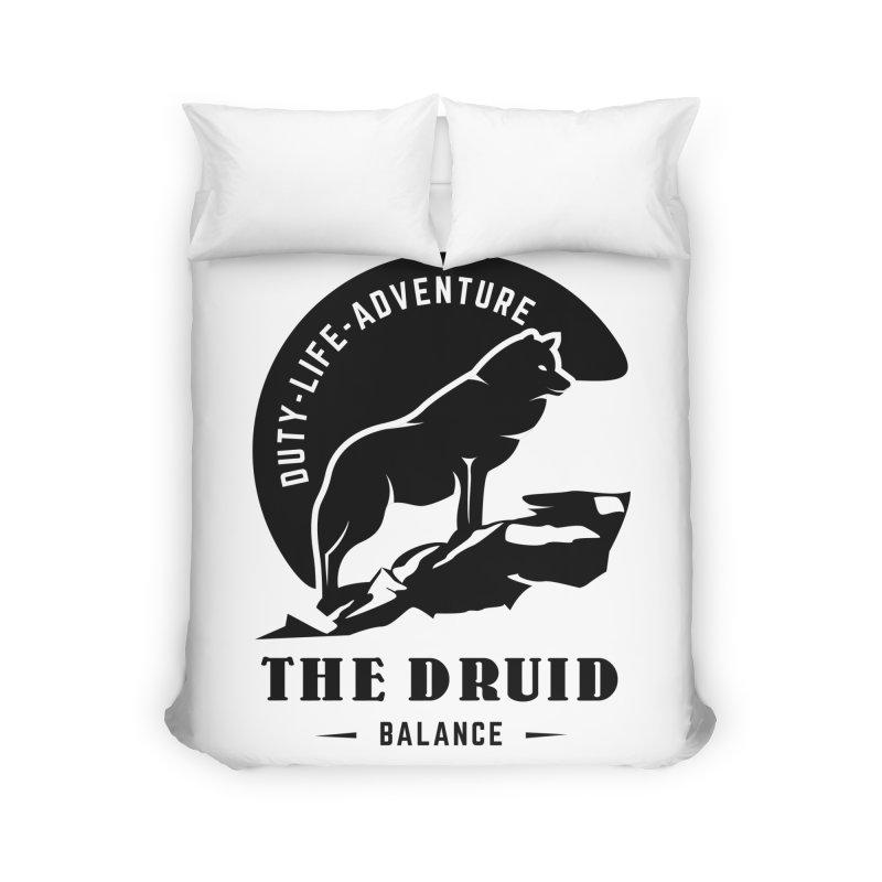 The Druid - Black Home Duvet by Fantastic Worlds Podcast  Shop