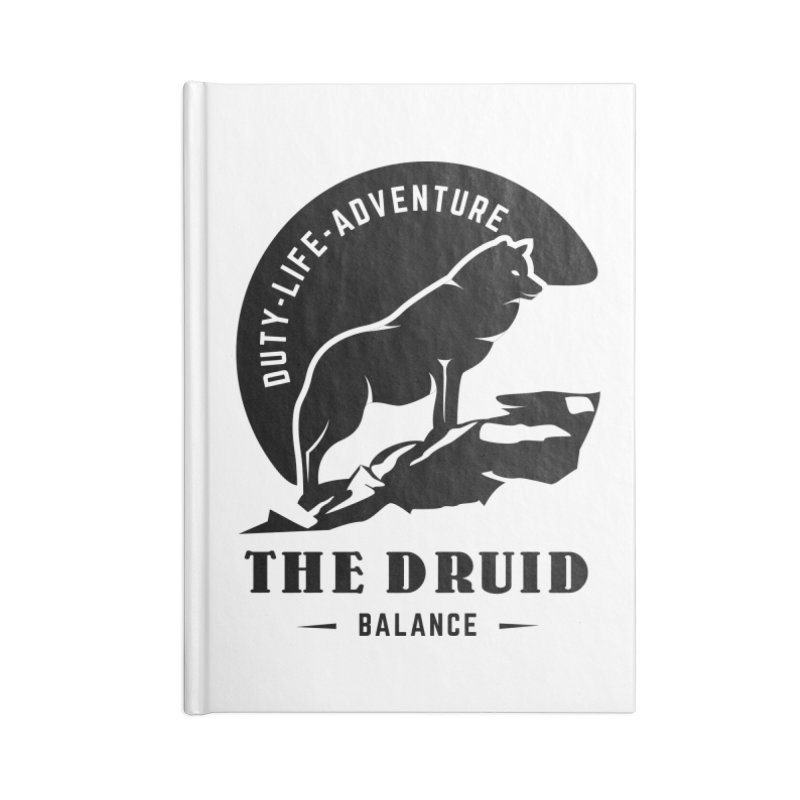 The Druid - Black Accessories Lined Journal Notebook by fantastic worlds pod's Artist Shop