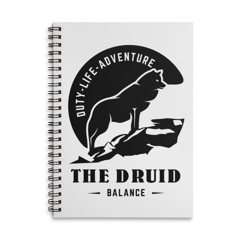 The Druid - Black Accessories Lined Spiral Notebook by fantastic worlds pod's Artist Shop