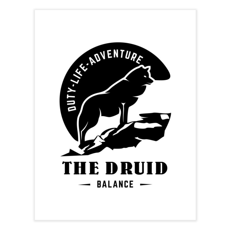 The Druid - Black Home Fine Art Print by Fantastic Worlds Podcast  Shop
