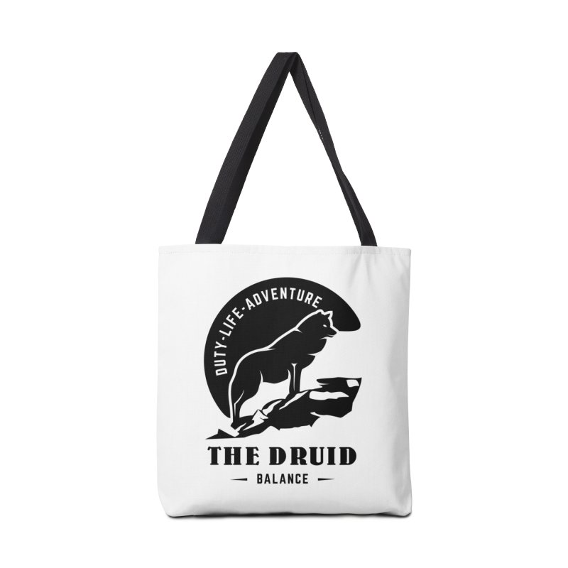 The Druid - Black Accessories Tote Bag Bag by fantastic worlds pod's Artist Shop