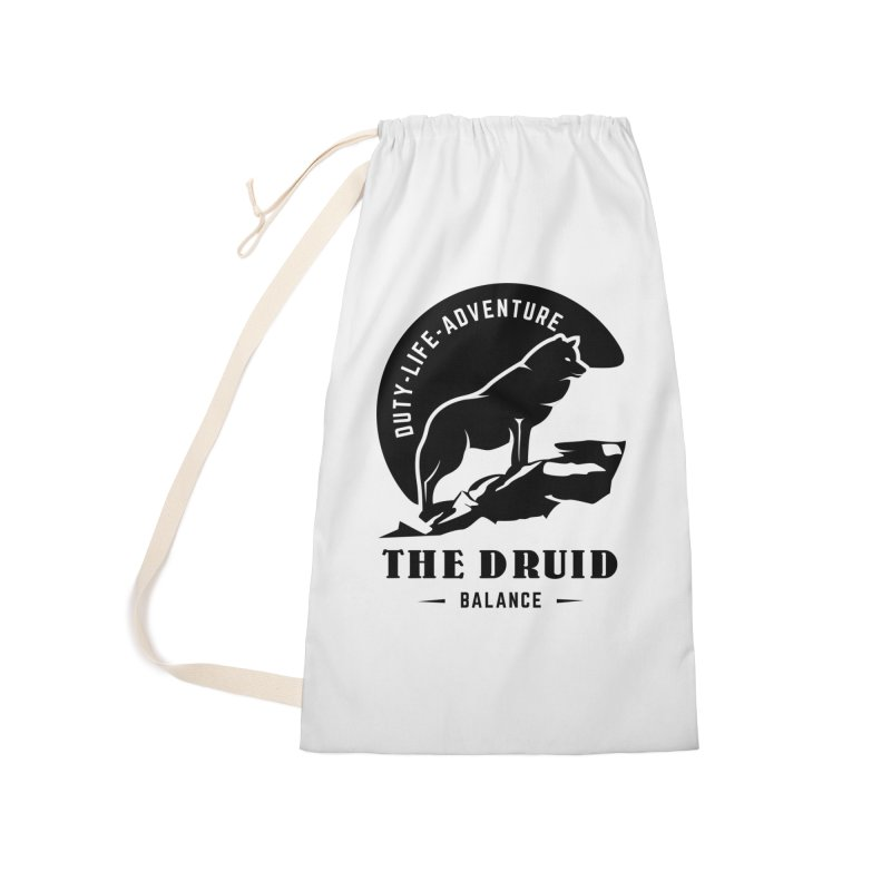 The Druid - Black Accessories Laundry Bag Bag by fantastic worlds pod's Artist Shop
