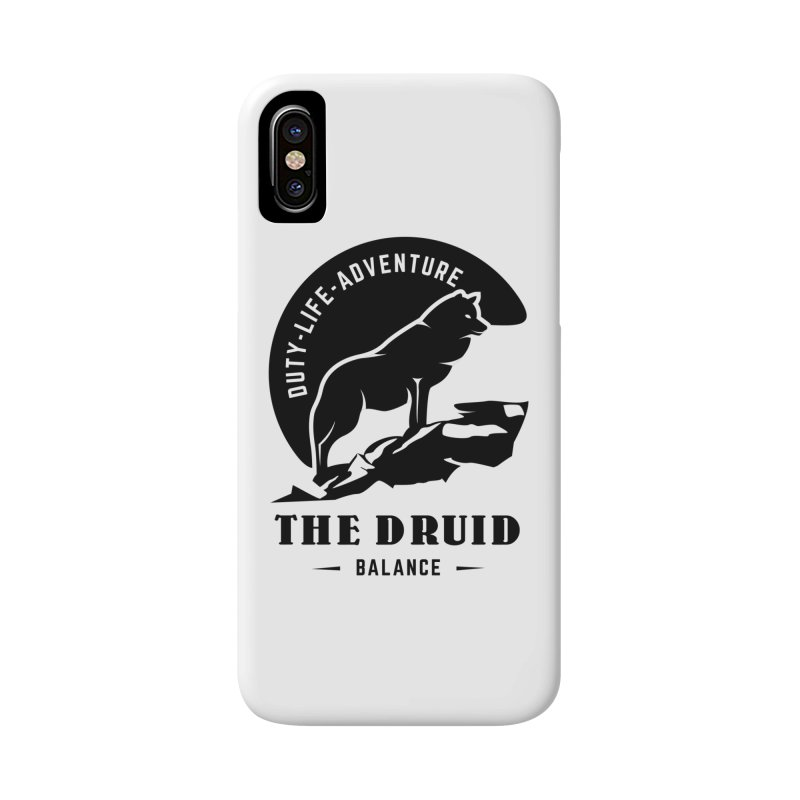 The Druid - Black Accessories Phone Case by fantastic worlds pod's Artist Shop