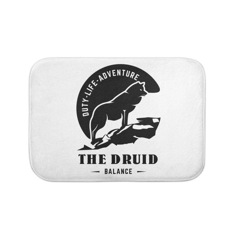 The Druid - Black Home Bath Mat by Fantastic Worlds Podcast  Shop