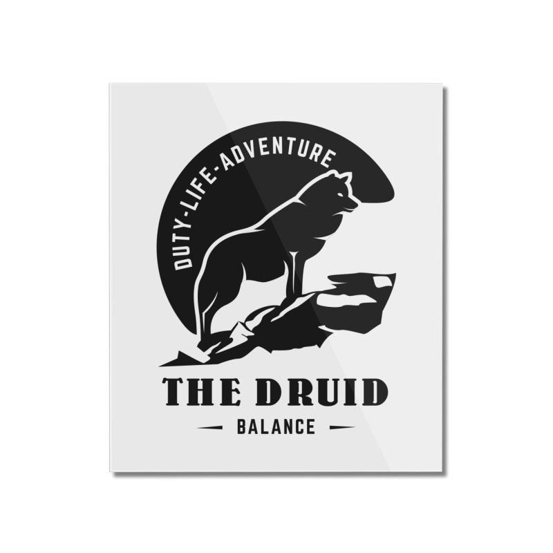 The Druid - Black Home Mounted Acrylic Print by fantastic worlds pod's Artist Shop