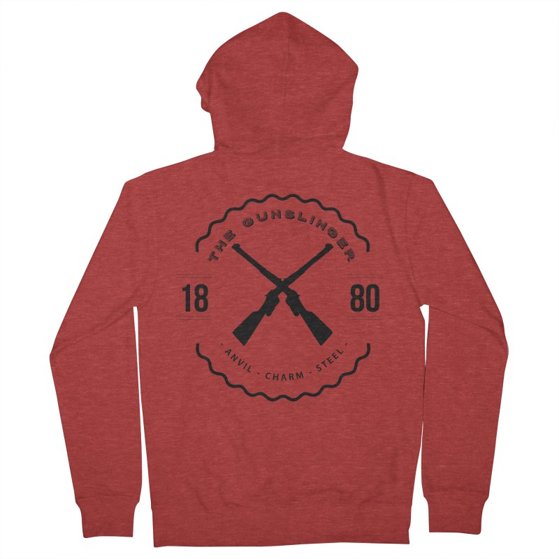 Odessa - Black Men's French Terry Zip-Up Hoody by fantastic worlds pod's Artist Shop