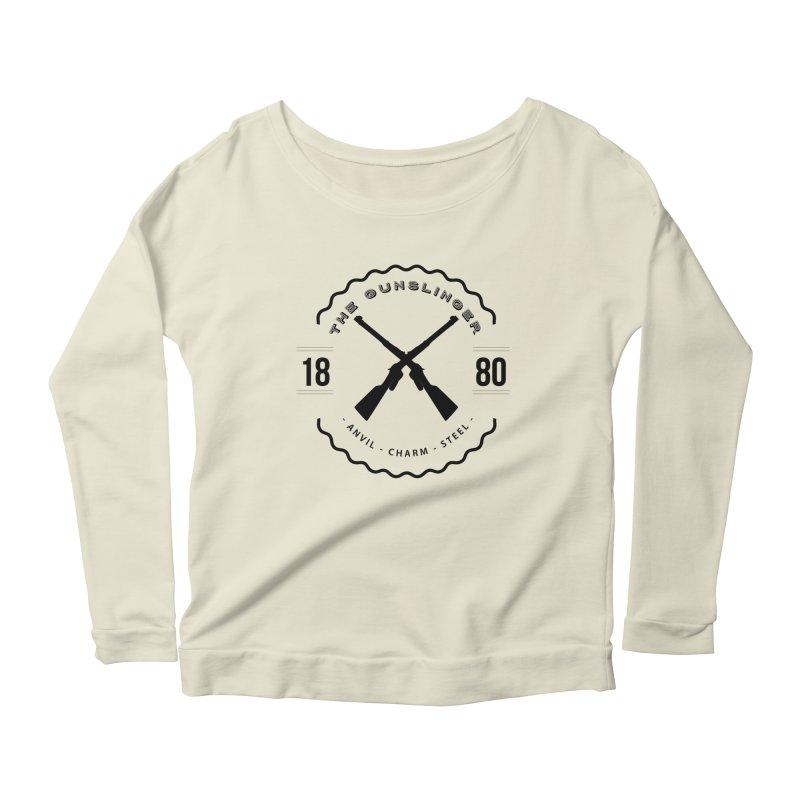 Odessa - Black Women's Scoop Neck Longsleeve T-Shirt by fantastic worlds pod's Artist Shop