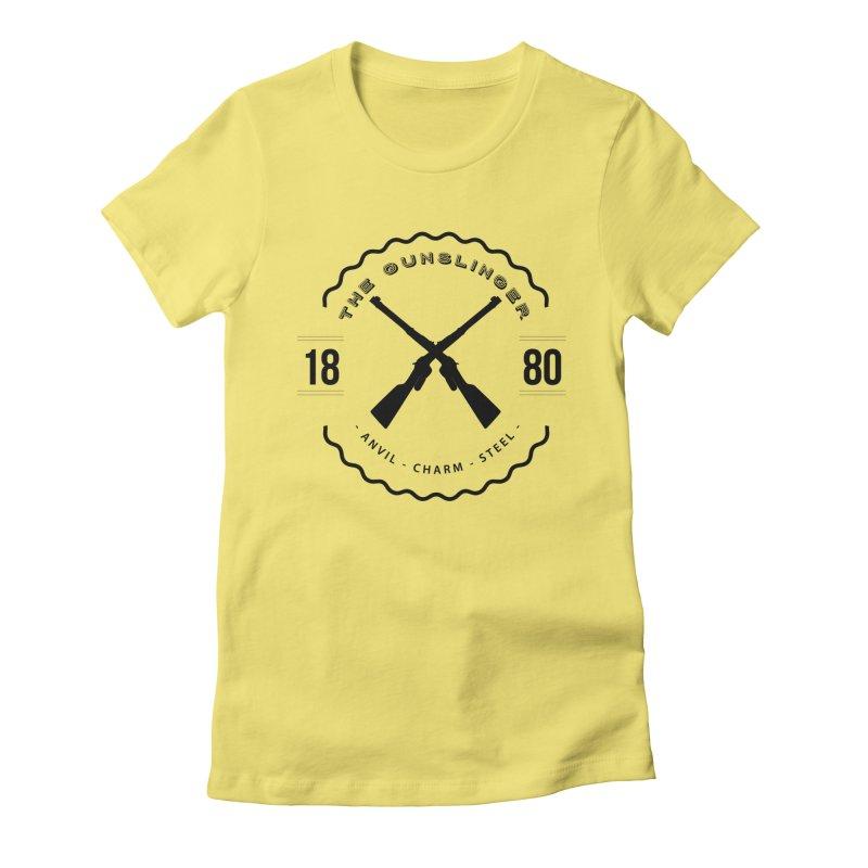 Odessa - Black Women's Fitted T-Shirt by fantasticworldspod's Artist Shop