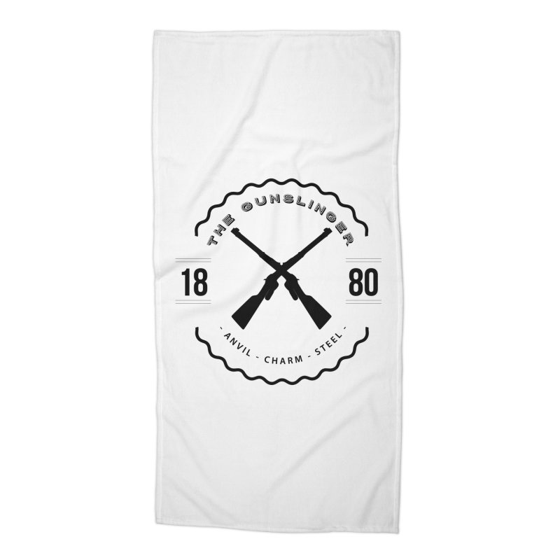 Odessa - Black Accessories Beach Towel by fantastic worlds pod's Artist Shop