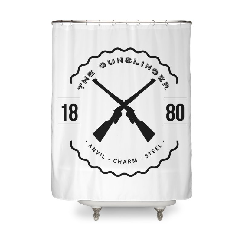 Odessa - Black Home Shower Curtain by fantastic worlds pod's Artist Shop