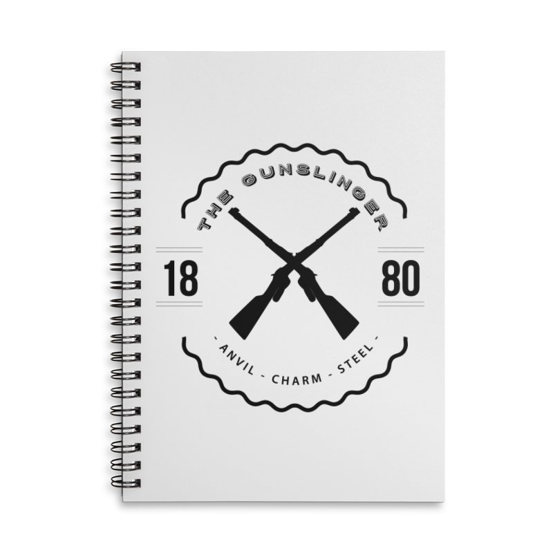 Odessa - Black Accessories Lined Spiral Notebook by fantastic worlds pod's Artist Shop