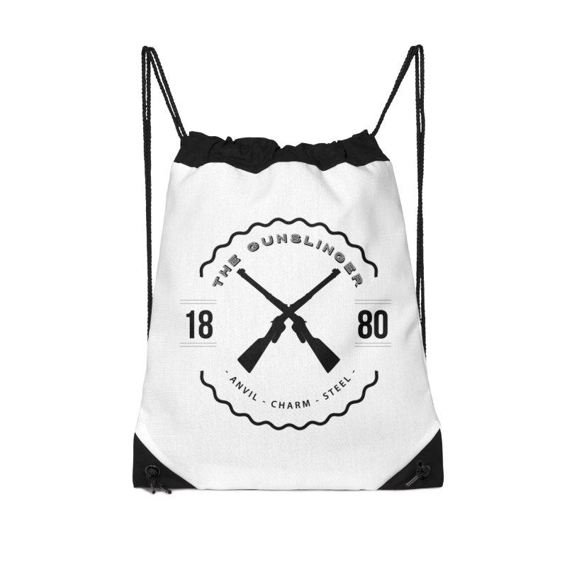 Odessa - Black Accessories Drawstring Bag Bag by fantastic worlds pod's Artist Shop