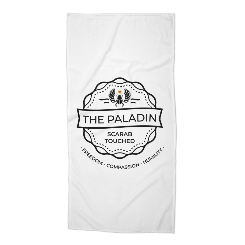 Menet - Black Accessories Beach Towel by fantastic worlds pod's Artist Shop