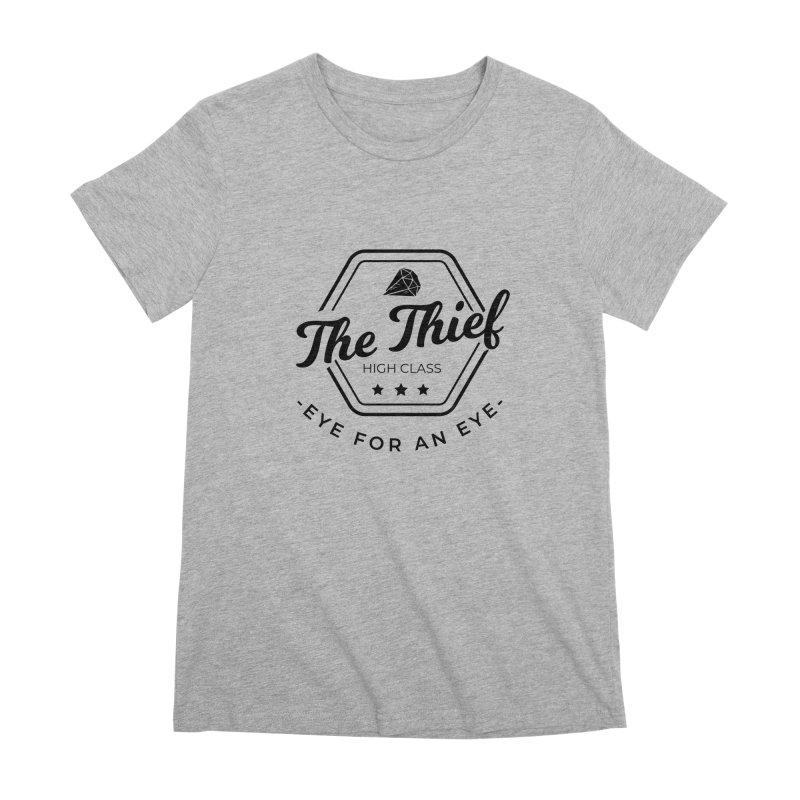 Pippa - Rogue - Black Women's Premium T-Shirt by fantastic worlds pod's Artist Shop