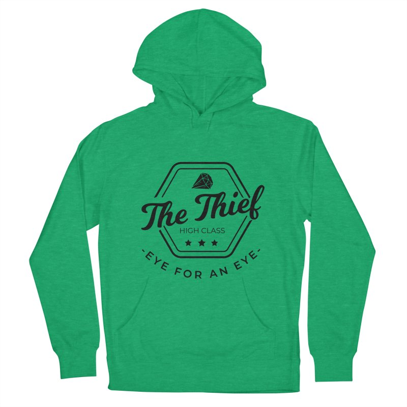 Pippa - Rogue - Black Men's French Terry Pullover Hoody by fantastic worlds pod's Artist Shop
