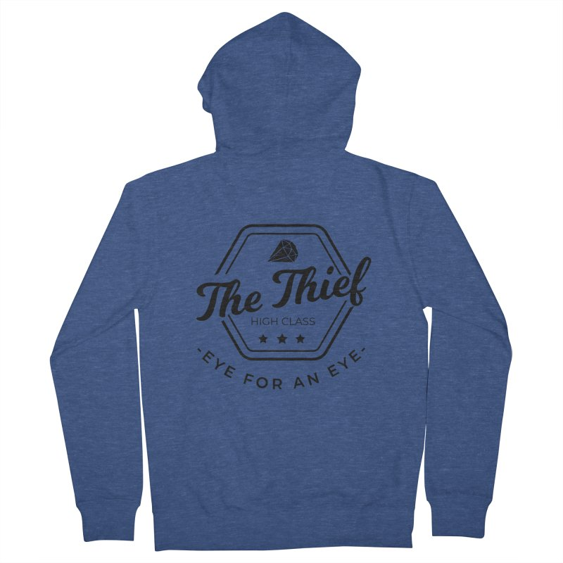 Pippa - Rogue - Black Women's French Terry Zip-Up Hoody by fantastic worlds pod's Artist Shop
