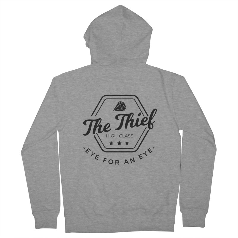 Pippa - Rogue - Black Men's French Terry Zip-Up Hoody by fantastic worlds pod's Artist Shop